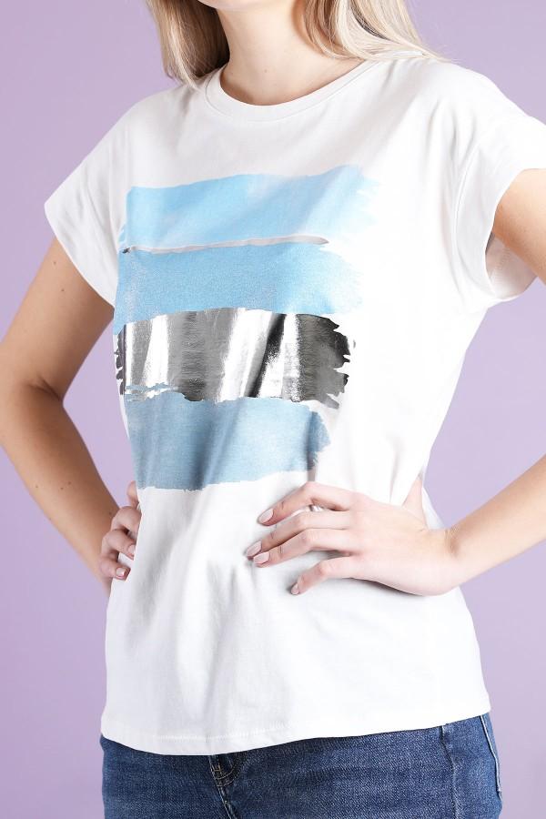Blue T-Shirt Painting
