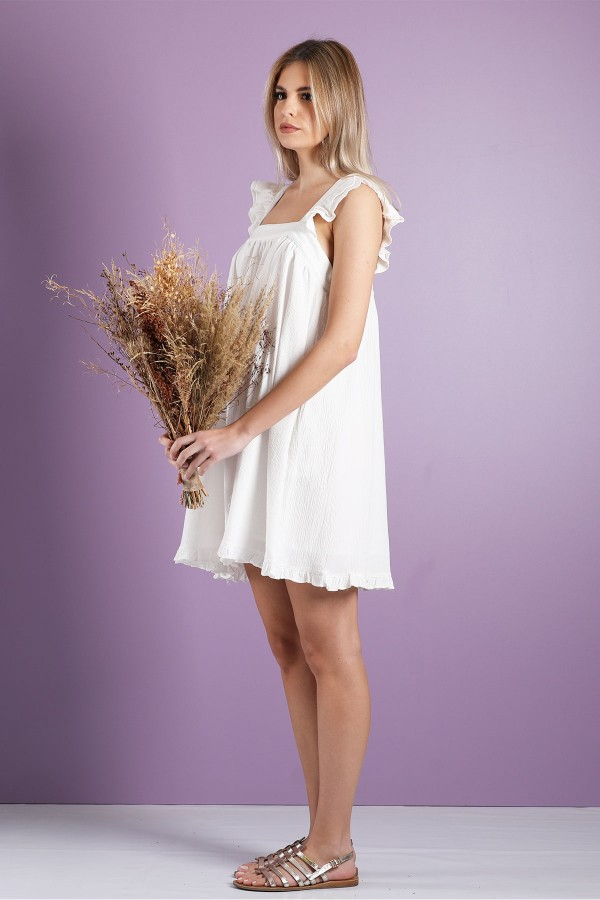 White Carline Dress