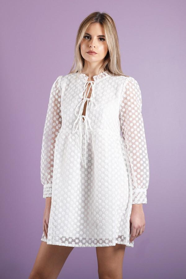 White Devi Dress