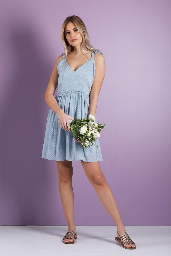 Blue Pepita Dress