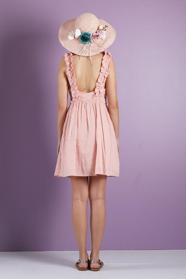 Pink Pepita Dress