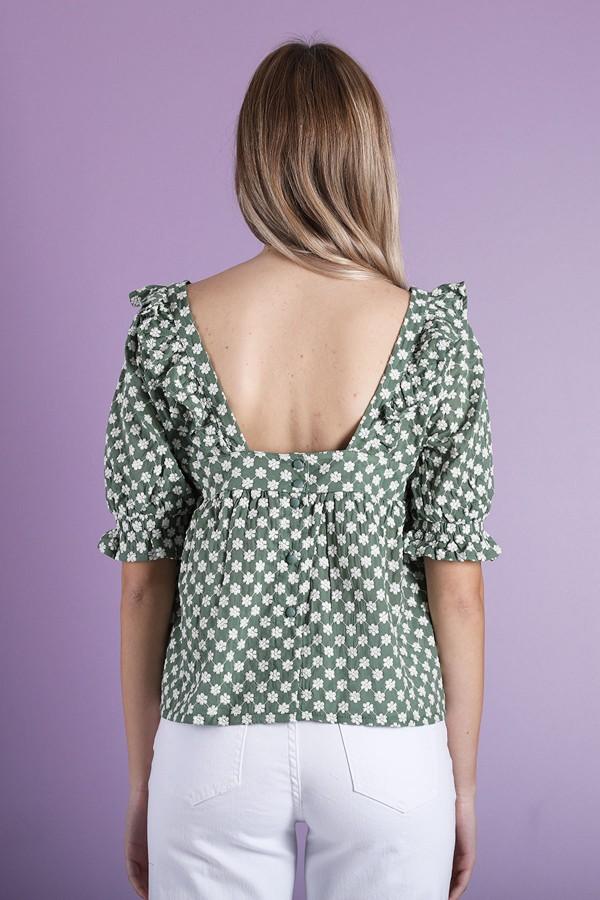 Green Tilda Top