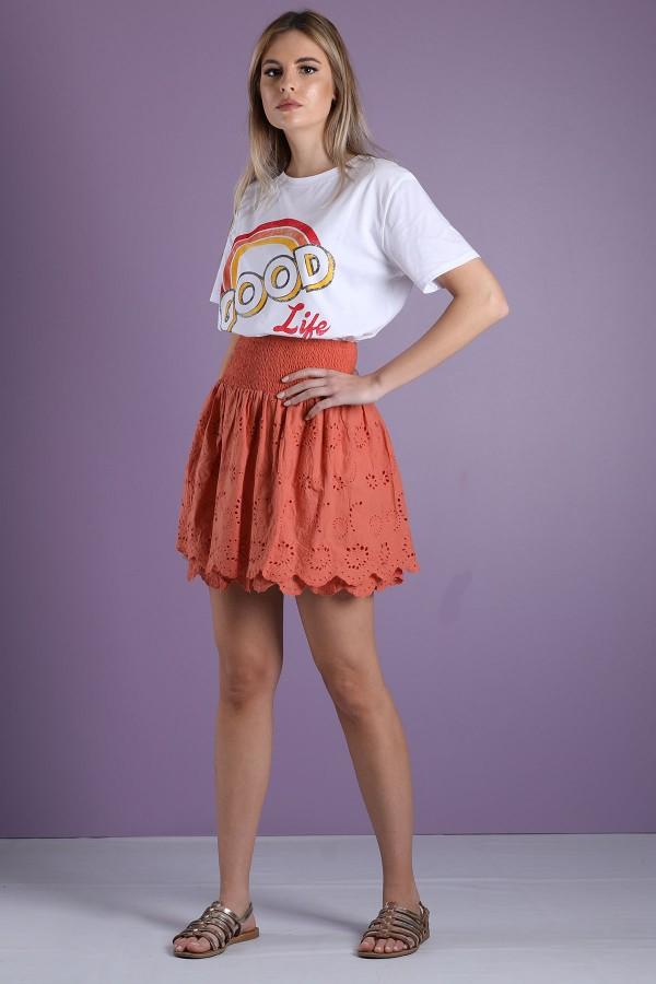 Orange Paola Skirt