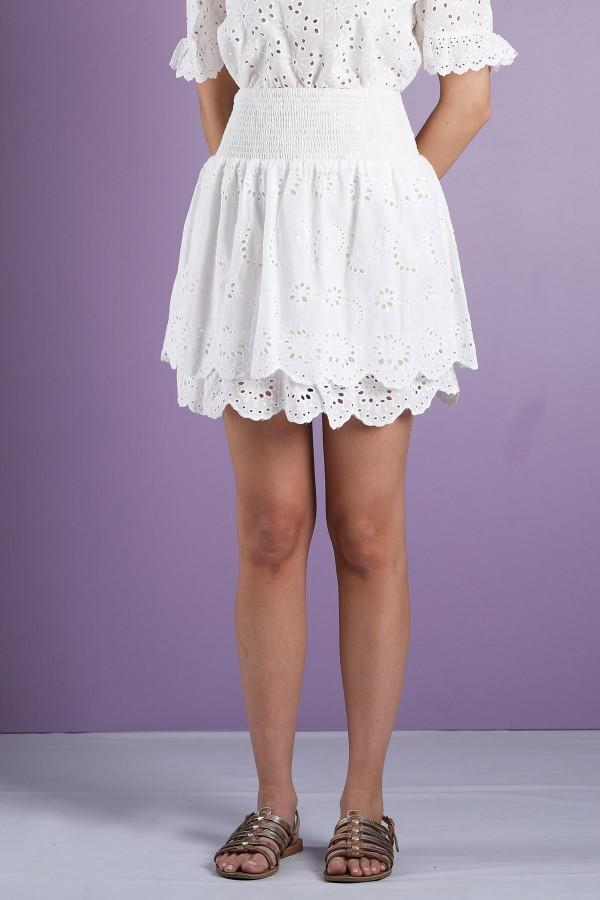 White Paola Skirt