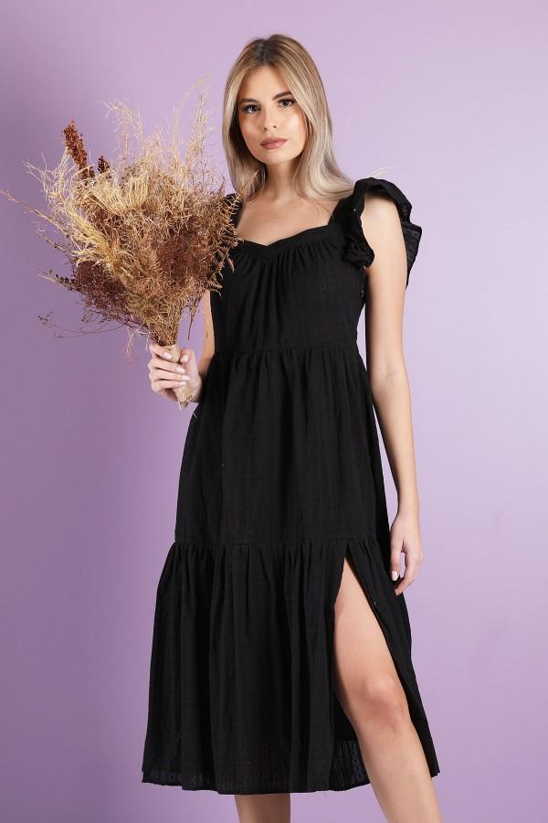 Black Yolande Dress
