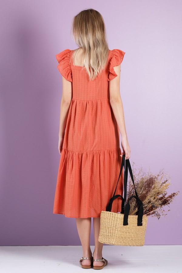 Orange Yolande Dress
