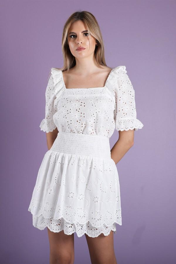 White Edna Top