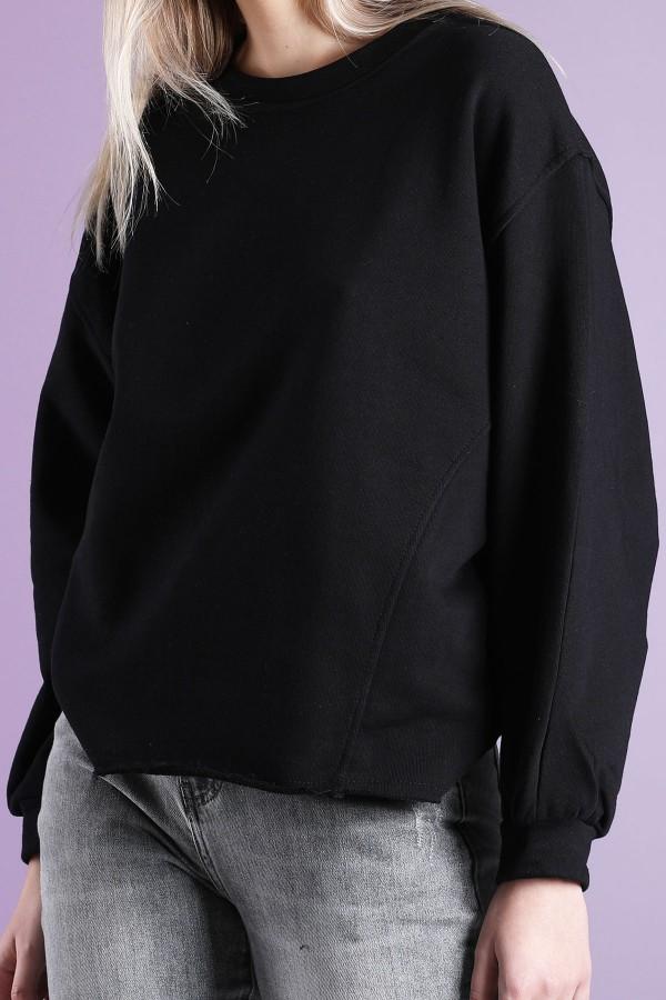 Black Oversized Sweatshirt