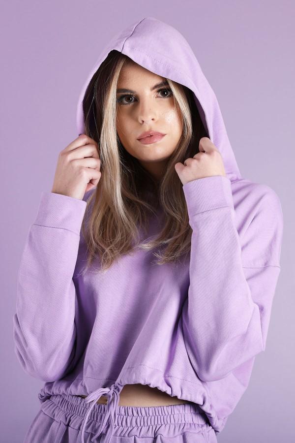Purple Cord Lock Sweatshirt