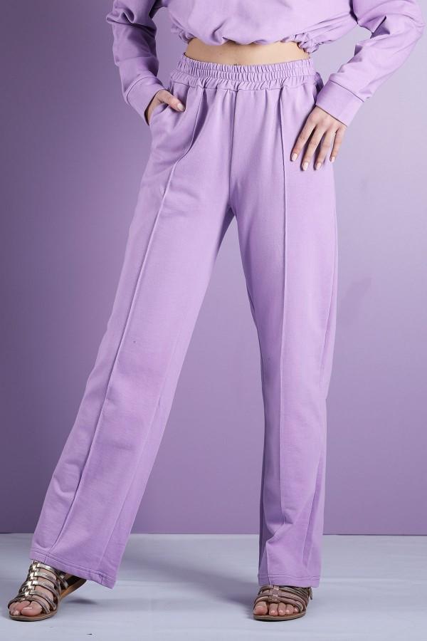 Purple Wide Leg Jogging Trousers