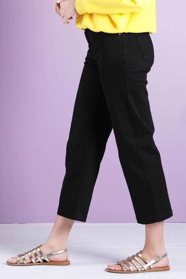 Black Leg Cropped Jeans